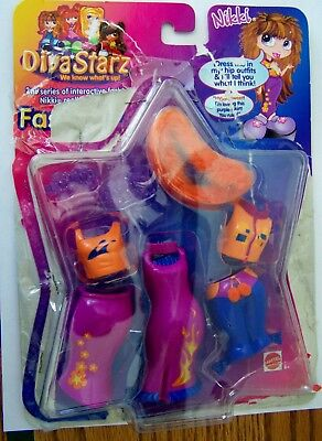 "2001 DIVA STARZ NIKKI FASHIONS & ACCESS for 9""  Interactive Doll Mattel"