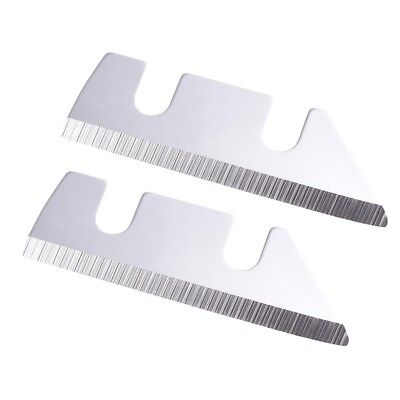 2 Pieces Replacement Blades Steel For Ice Shaver Snow Cone Maker Crusher Machine