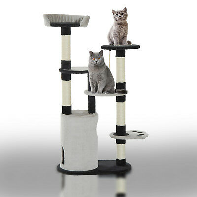 "55"" Cat Scratching Tree Kitten Towers Activity Center with Condo Post Gray"