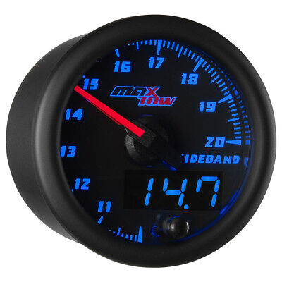 Black & Blue MaxTow Wideband Air/Fuel Ratio AFR Gauge Kit w Data Logging Output