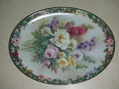 Lena Liu Floral Cameos REMEMBRANCE plate
