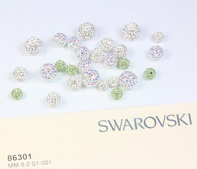 NEW Genuine SWAROVSKI 86301 BeCharmed Pavé Ball Half Hole Beads * Many Colors