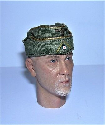 DID 1/6th Scale WW2 German Officer's Sidecap - Drud