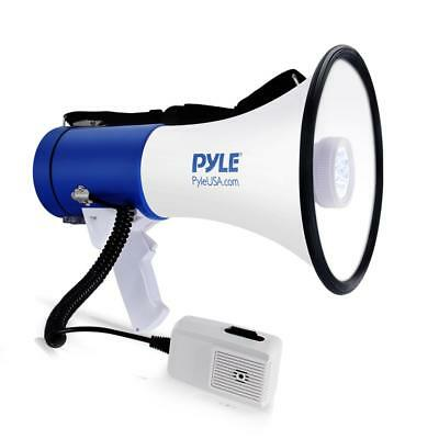 Pyle PMP51LT 50 Watt Megaphone Indoor Outdoor PA Built in LED Lights Single