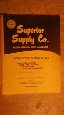 1972 Superior Supply Company Catalog Construction Plumber Electrical Fireplace