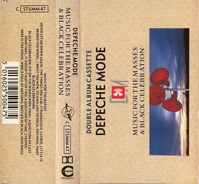 Depeche Mode, Music For The Masses/Black Celebration, NEW RARE UK cassette album
