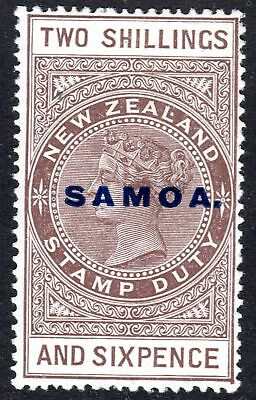 Samoa SG 165, 2 Sh.6d overprinted revenue, Cowan Paper, unused item