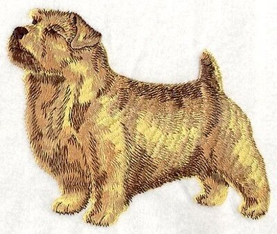 Embroidered Ladies Short-Sleeved T-Shirt - Norfolk Terrier I1191