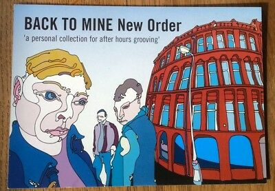 NEW ORDER Back To Mine PROMO postcard 6x4 inches