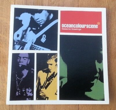 OCEAN COLOUR SCENE machine autographed Xmas Card 6x6 inches