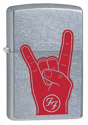 "Zippo ""Foo Fighters"" Street Chrome Finish Lighter, Full Size,  29476"