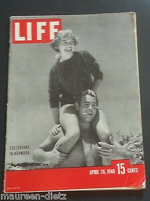 April 26, 1948 LIFE Magazine WAR old 40s ads ad Advertising, FREE SHIPPING 4 25