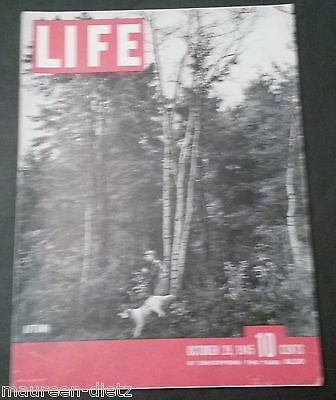 October 29, 1945 LIFE Magazine WWII War FREE SHIPPING Oct 10 45  30 31 28 27 26