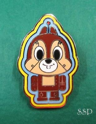 Disney Pin HKDL Hong Kong Disneyland Toy Factory Robot Booster Set - Chip