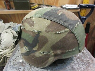 Us Army Ach Mich Helmet Size Large Msa Woodland Desert Cover Used