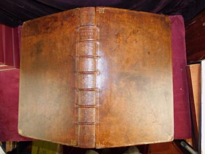 JULIUS CAESAR's COMMENTARIES by SAMUEL CLARKE/HUGE LEATHER/ROME/RARE 1712 $13000