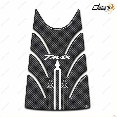 Kit Adesivi In Resina 3D Compatibile Yamaha T Max Tmax 2008-2011 Carbon Bianco