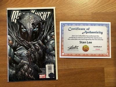 Moon Knight #6 Signed Stan Lee & David Finch W/coa Marc Spector