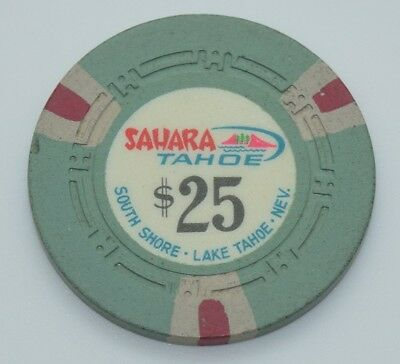 Sahara Tahoe $25 Casino Chip Lake Tahoe Nevada H.C.E. Mold 1965 FREE SHIPPING