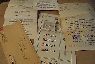 "RARE 1902 ADVERTISING Forms/Brochure~""SIGNAL MAIL BOX CO""~Joliet IL~"