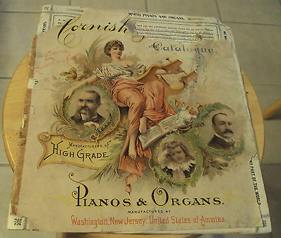 "ORIGINAL Rare ca. 1905 ""CORNISH"" Catalog/Catalogue~""PIANOS & ORGANS""~Illustrated"