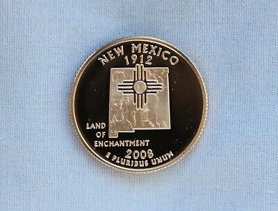 2008-S New Mexico Clad Proof State Quarter Cameo