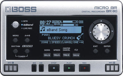 Boss Micro BR BR-80 BR80 8-track Digital Recorder New