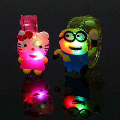 Hot 2pcs Supplies Flash Light Led Wrist Watch Bracelet Kids Toy Gift Adjustable
