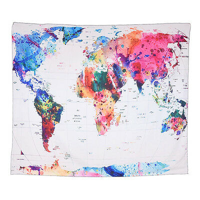 Art world map wall tapestry wall hanging tapestry living room vintage multi color world map wall hanging tapestry bedspread living room decor gumiabroncs Image collections