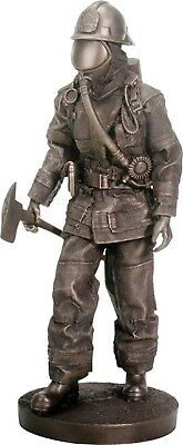 Firefighter With Axe Statue Figurine - New - Free Shipping