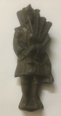 Lovely Vintage Scottish Bagpipe Player Brass Door Knocker RDL482