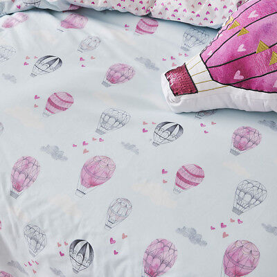 ADAIRS KIDS Hot Air Balloon Up Up Away COT (JUNIOR BED) QUILT COVER SET BNIP