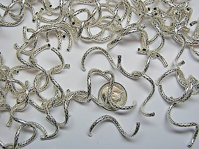 33mm X 2mm PATTERNED STERLING SILVER CURLY Q BEAD - 12 PIECES!!! HANDMADE!!!