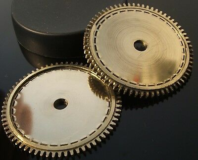 CLOCK PARTS - LARGE BRASS GEARS COGS - STEAMPUNK CRAFT PROJECT - LOT OF 2pcs --