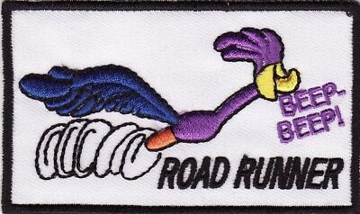 """Beep Beep The Road Runner 3 1/2"""" x 2"""" Embroidered Iron On Patch *New*"""
