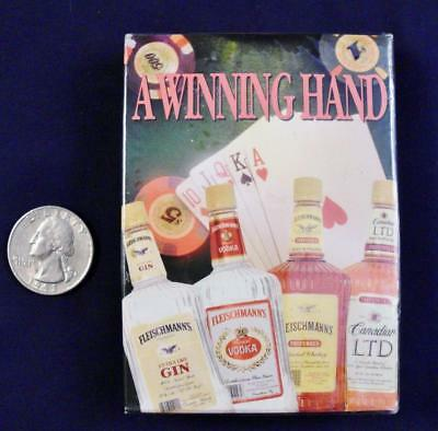 Fleischmann's Spirits A Winning Hand Playing Cards Poker Size USA NIP Sealed