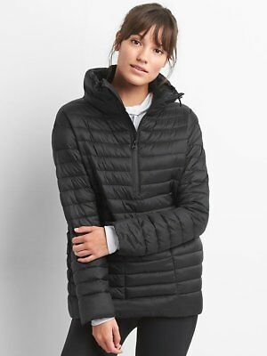 New Gap Maternity Black PrimaLoft Half Zip Puffer Jacket Coat  XL NWT $108!