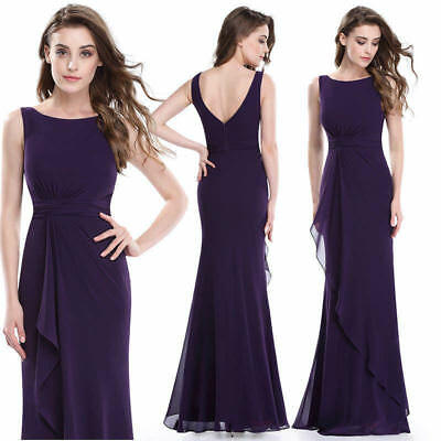 US Bridesmaid Dresses Chiffon Ball Gown Prom Dress 08796 US Seller Ever-Pretty