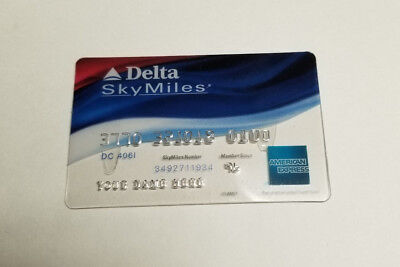 American Express Delta Sky Miles Collectible Plastic Card