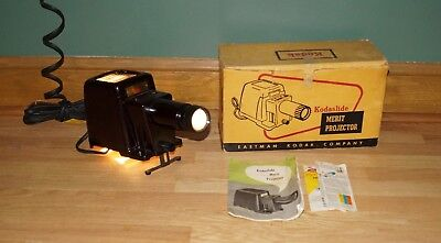 Vintage Kodak Kodaslide Merit Projector, Great Condition And Working, W/ Box