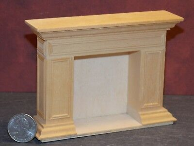 Dollhouse Miniature Fireplace Unfinished Wood 1:12 in scale F20 Dollys Gallery