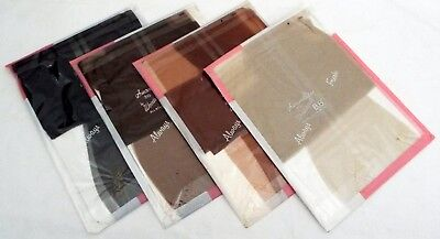 4 Pairs Vintage-New Stockings Size 9 Medium Length 1960's Nylons Factory Find