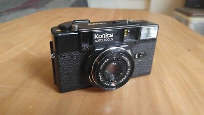 Nice Vintage Used Konica C35 AF2 35mm Film Camera HEXANON 38mm F2.8 Japan Auto