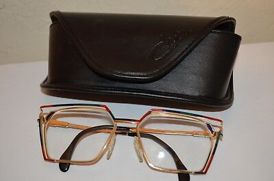 Cazal 56/16 Rainbow Square Magnified Rx Reading Glasses Mod 250 Germany VTG 80s