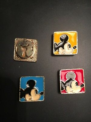 Mickey Mouse Metal Button Covers Enamel Minnie Square