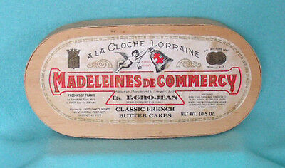 Vintage Madeleines DeCommercy French Butter Cake Wooden Box - Shabby Chic Decor