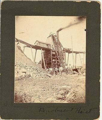 PENOBSCOT MILL & Hoist MINE AND MINERS (Maine) - Circa 1890's.