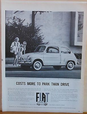 1960 magazine ad for Fiat - photo of Fiat, Carries you in Style, economical