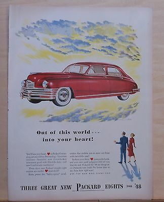 Vintage 1947 magazine ad for Packard - Out of This World, Brindle illustration
