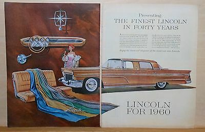 1959 two page magazine ad for Lincoln - 1960 Lincoln, Finest in 40 Years